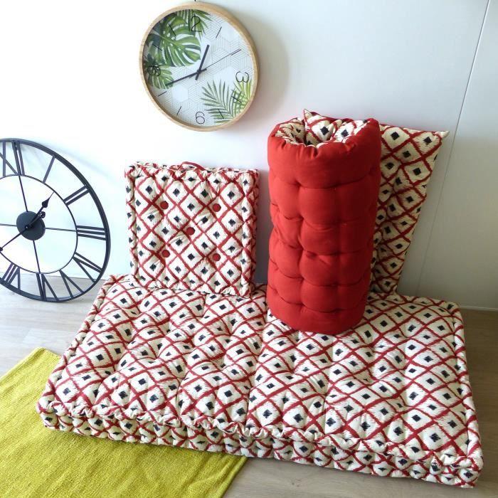 COUSSIN - MATELAS DE SOL Matelas de sol 100% coton imprimé BOHO 120x60x15cm