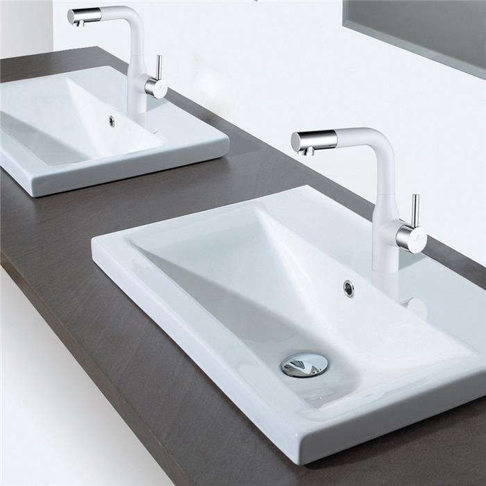 robinet salle de bains bec pivotant 360 mitigeur haut pour. Black Bedroom Furniture Sets. Home Design Ideas