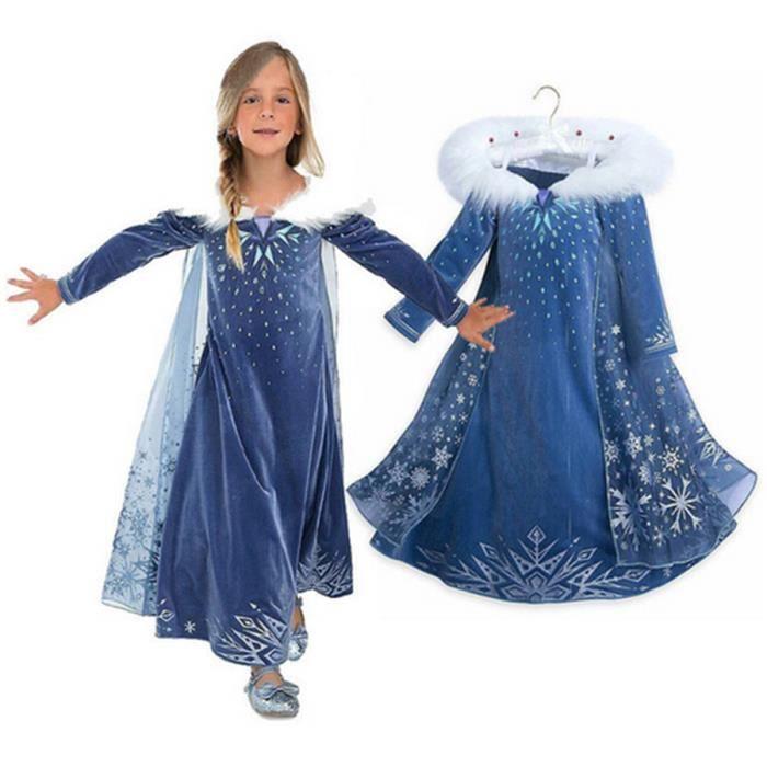 7ac59923e7e DÉGUISEMENT - PANOPLIE Disney Frozen robe Hiver Fille Princesse Anna Elsa