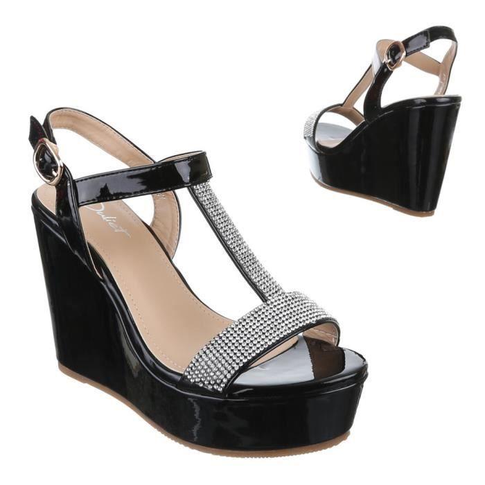 Chaussures femmes sandales cale talon Escarpins Strappy