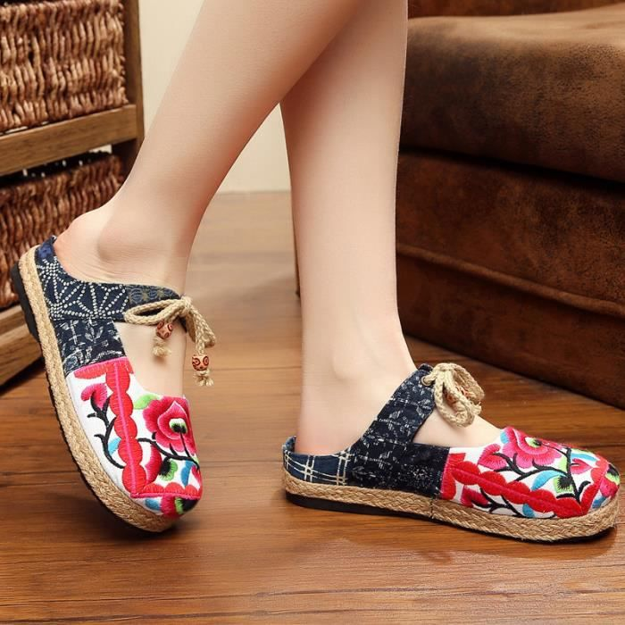 Chaussons Femme Chaussons Fille Mules Mules 6wFxqO5