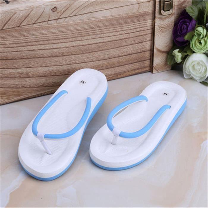 femmes Plein 39 Sandales 35 De Pour Mode Confortable Nouvelle femme Plus Taille La Sandales Air Plage 39 bleu Sandale femme Tongs tqUFpwnxz1