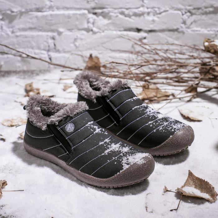 Hommes bottes courtes bottes de neige design de mode marque de luxe chaud et en peluche chaussures de coton 2018 nouveau