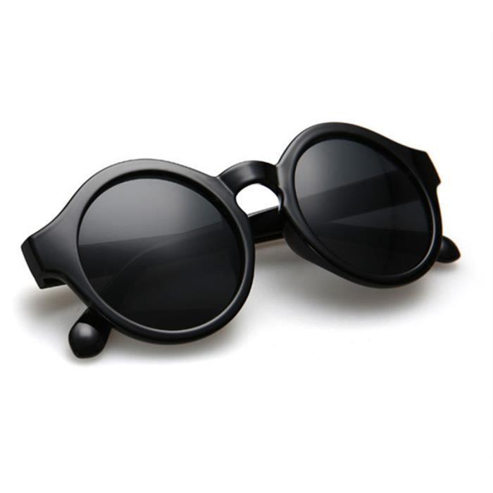21536197e6bed3 SHARPHY® Lunette de soleil femme 2016 ronde steampunk retro noir été  sunglasses à la mode