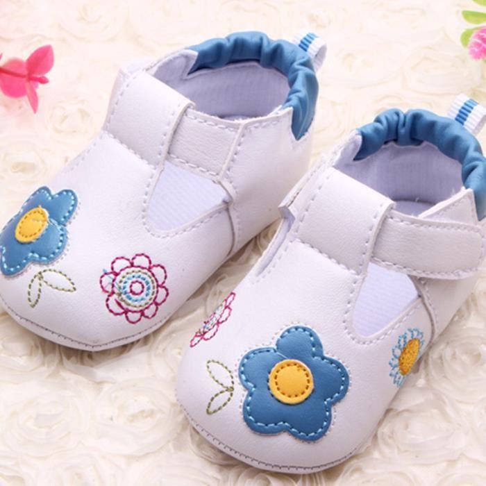 MOONAR@ Chaussures de bébé, cercle dans la semelle, appropriés pour apprendre à marcher, anti-dérapantbleu