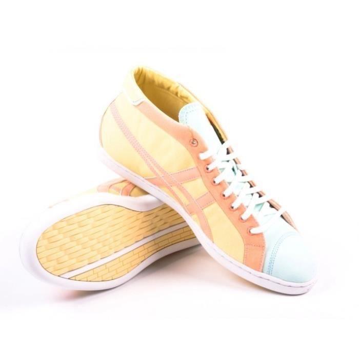 Asics Onitsuka Tiger par sneaker Seck MT jaune / rose [us 13]