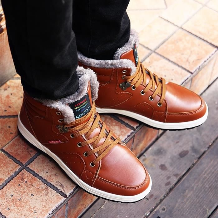 Bottes pour de hommes de d'extérieur fourrure chaud Chaussures antidérapants sport Mode neige vEq740w