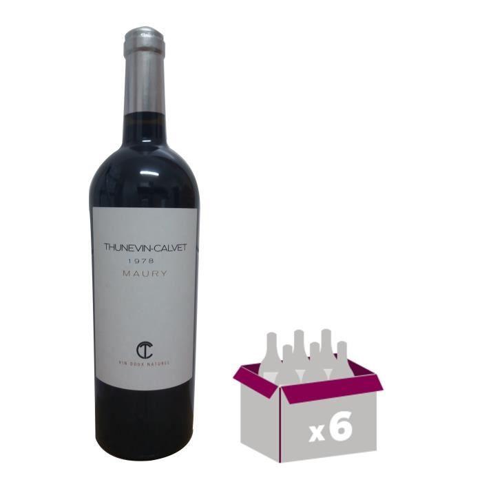 THUNEVIN CALVET Maury 1978 - Cuvée Constance Banyuls - Vin Doux Naturel - Rouge - 16° - 75 cl x6VIN ROUGE