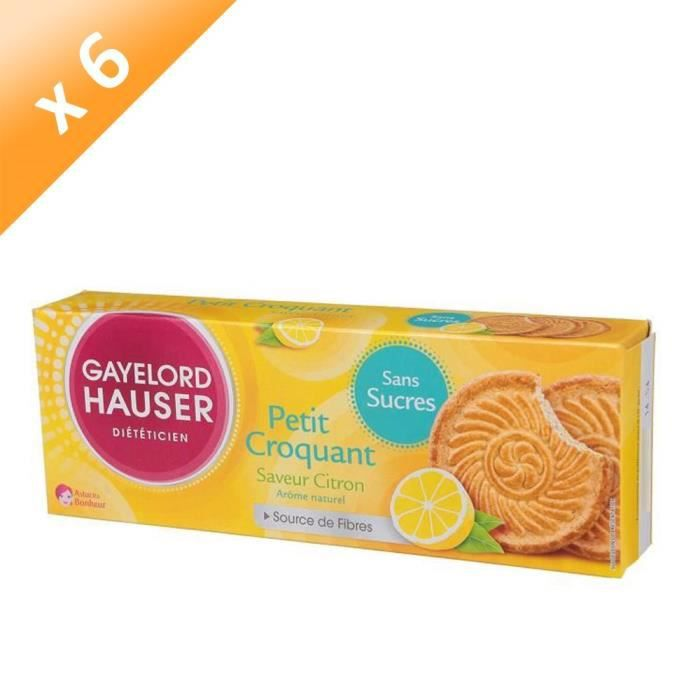 GAYELORD HAUSER Croquant Citron Sans gluten - 120 g x6