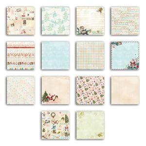 TOGA Bloc Déco Dear Santa - 28 feuilles de papier - 20x20 cm