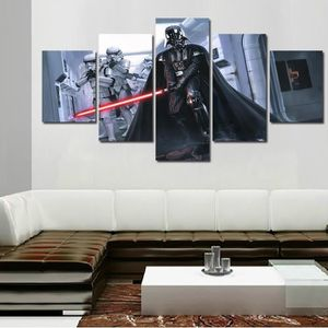 TABLEAU - TOILE Toile peintures imprimées 5 pièces Star Wars Black