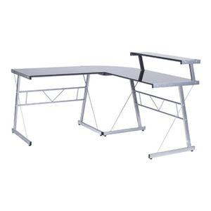 Meuble d 39 angle de bureau bureau d 39 angle verre achat vente meuble - Bureau en verre pas cher ...