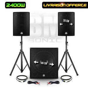 PACK SONO Pack sonorisation DJ 2400W - Subwoofer 46cm + 2 En