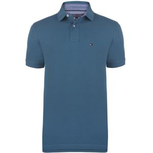 POLO TOMMY HILFIGER Polo Manches courtes - Homme - Bleu