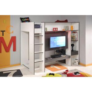 lit mezzanine adulte achat vente lit mezzanine adulte pas cher cdiscount. Black Bedroom Furniture Sets. Home Design Ideas