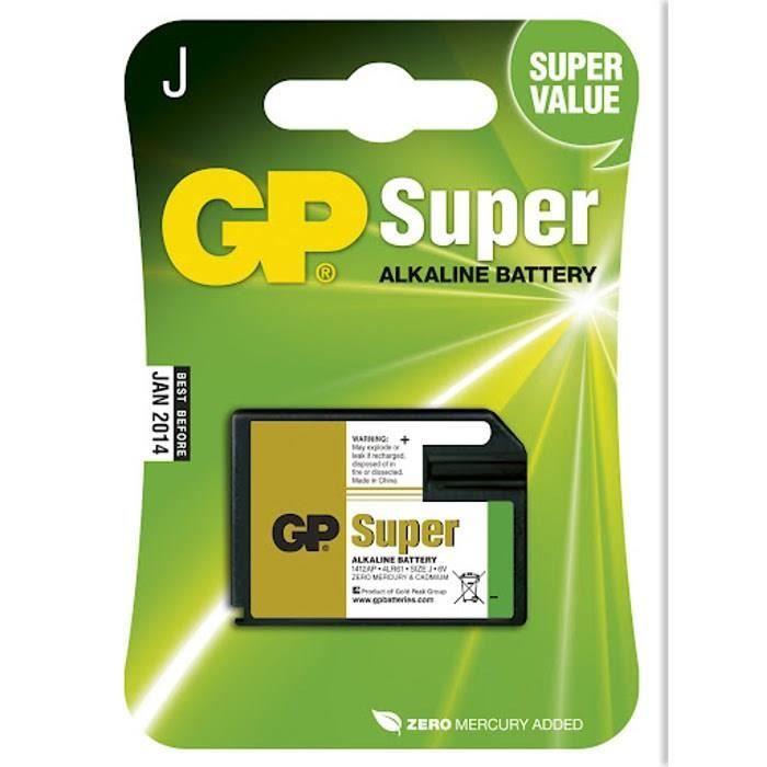 PILES SUPER ALCALINE GP 1412AP-U1 / 539 / 7K67 / 4LR61/blister de 1 pile