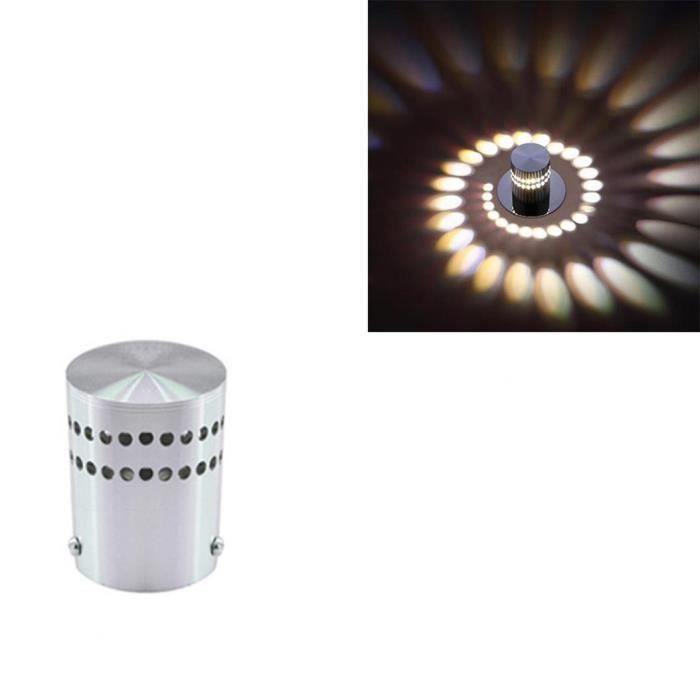 Moderne Led Applique Murale Spirale Plafond Couloir Applique Lampe Home Chambre Decor Rose 1w