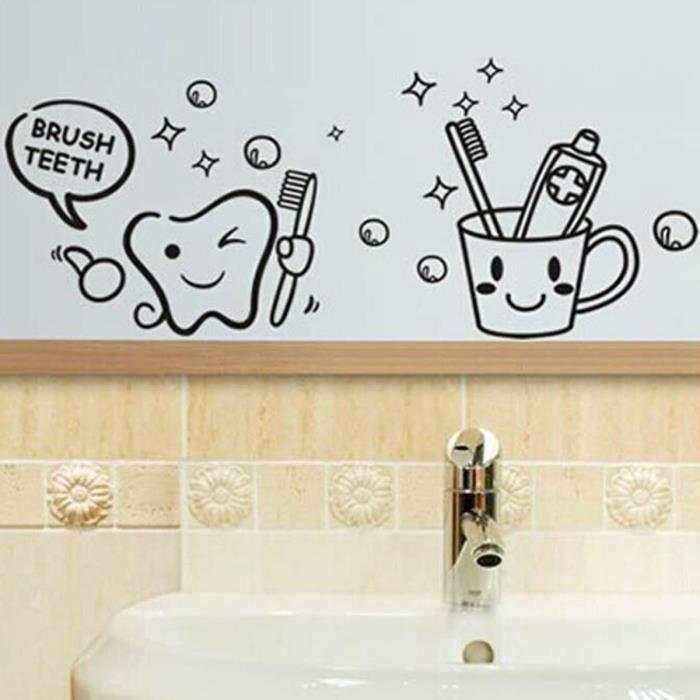 Stickers salle de bains achat vente stickers salle de for Decoration mur salle de bain