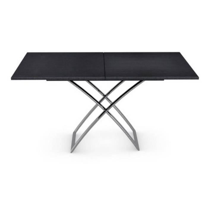 Table Basse Relevable Extensible Italienne Magic J Graphite Achat