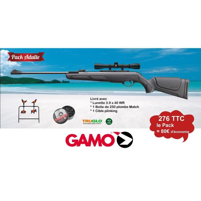Pack Adulte Gamo Carabine Shadow Dx Sport Cal 45 177 199 Joules