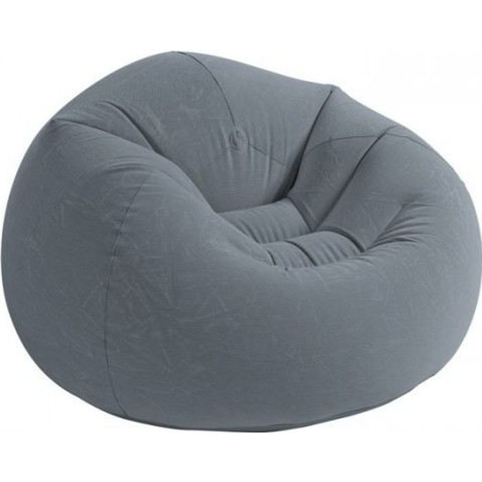 fauteuil poire gris velours achat vente chaise de camping cdiscount. Black Bedroom Furniture Sets. Home Design Ideas