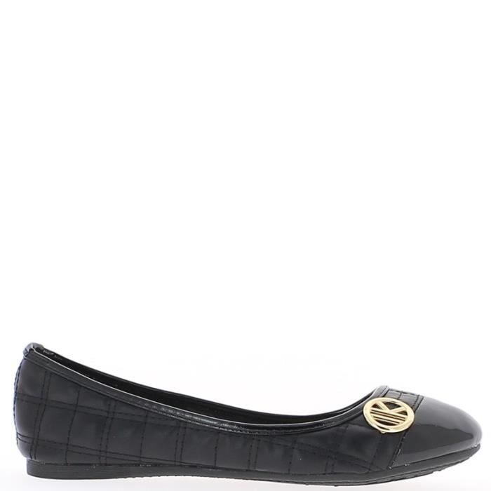 Ballerines noires aspect cuir br…