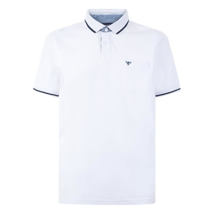 Blanc En Achat Coton Shirt Homme Morely T Polo Basique yYf67gb