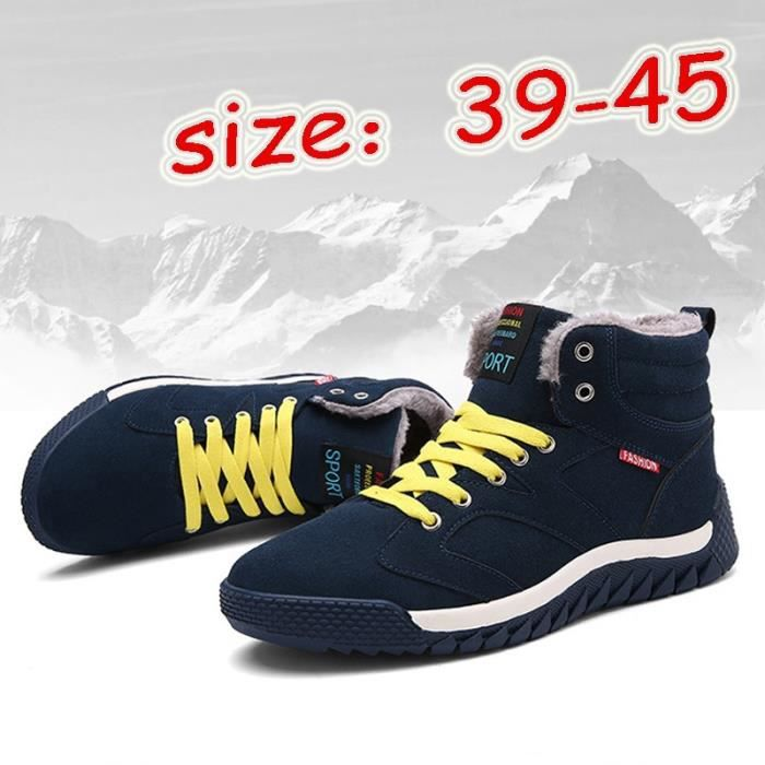 hiver de Chaussures warmful College Bottes Outdoor chaud au plus coton Chaussures neige style Bottes garder homme UWq1Fw84