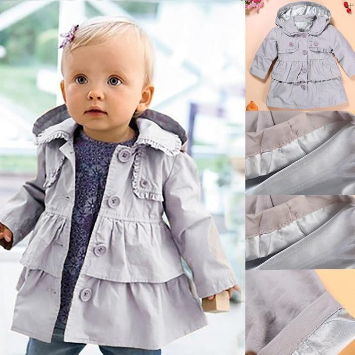 9eb8e716c40d New Baby Girl Autumn Winter Hooded Warm Coat Veste pour enfants pour ...