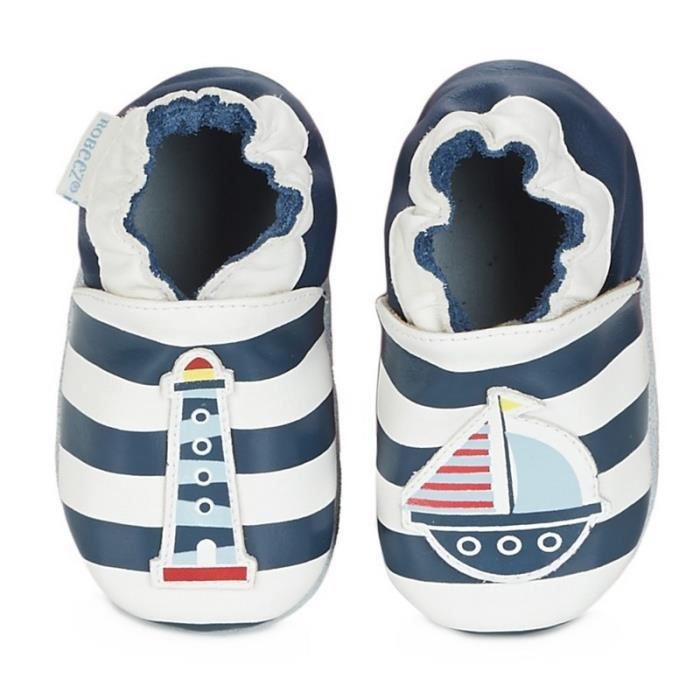 Robeez Chaussons Fille Phare Bateau Marin (19-20 (6/12 mois) - blanc)