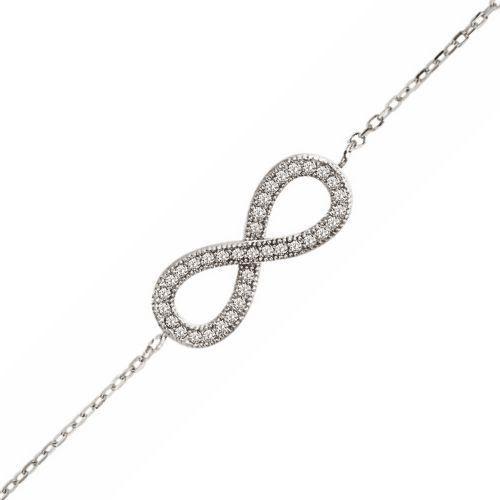 Bracelet Chaîne 16 + 3 cm Infini Zirconia Argent - Achat   Vente ... 325c55111300