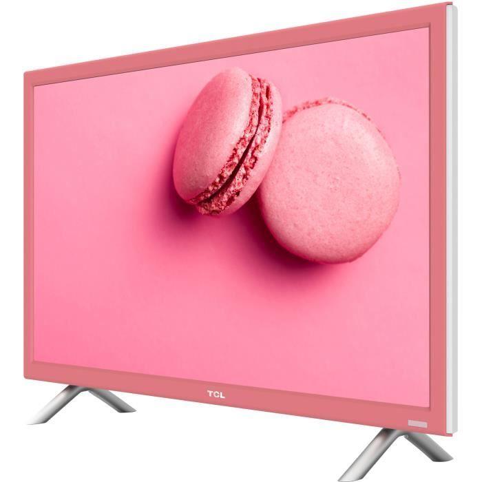 363b880930026c TCL H24E4453 TV LED HD 60 cm (24  ) - 2 x HDMI - Classe énergétique A - Rose