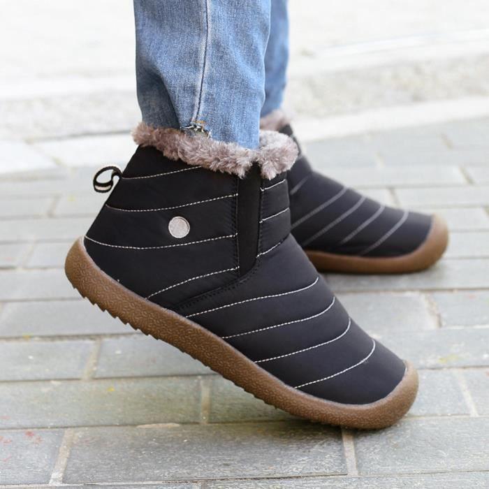 Bottines travail plein chaussures d'hiver air occasionnels pour en hommes chaussures neige fourrure doublée BK de de rzwOqPxr