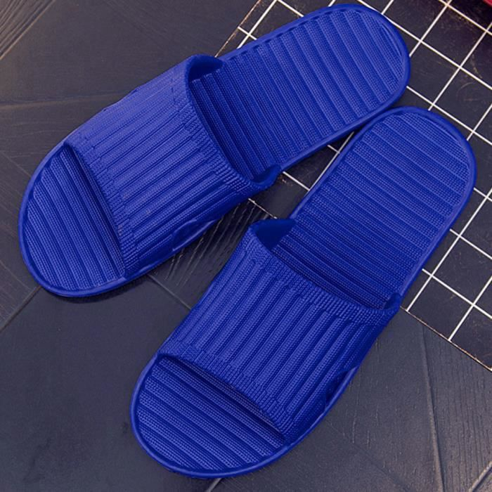 Tongs Chaussures Reservece Homme Antidérapage Flip Bleu Hommes D'été Pantoufle Sandales qR7RTX