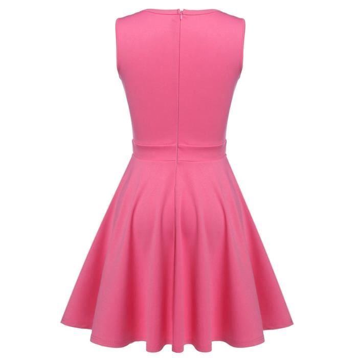 robe femme sans manches vintage