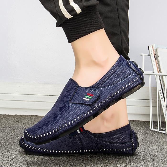 chaussure multisport pour Hommenoir 5.5 Driving Mocassins simples Design Chaussures de sport confortables chaussures p_2053 Zp19WSi88