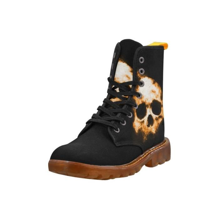 Leinterest Shadowy Skull Martin Boots Fashion Shoes For Women U1YF2 Taille-40