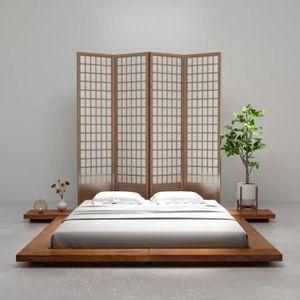 STRUCTURE DE LIT ETO Cadre de lit Futon Style japonais Bois Finitio