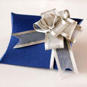 BOÎTE À DRAGÉES 10 pcs boites dragées carton bleu marine à decorer