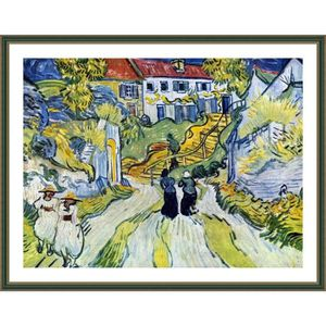 TABLEAU - TOILE Stairway At Auvers Vincent Van Gogh Green POSTER E