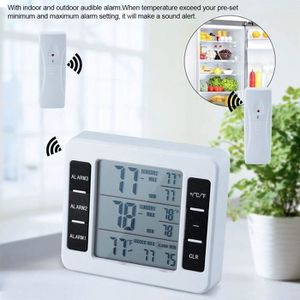 THERMOMÈTRE DE CUISINE Thermomètre de Réfrigérateur Sans Fil LCD Numériqu