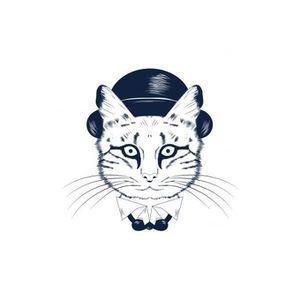 TABLEAU - TOILE Tableau Animal Chat Avec Chapeau 60X60