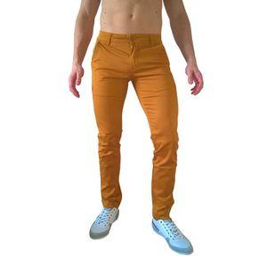 Orange Soldes Achat Vente Chino Homme Pantalon Slim Ocre tOOw7q