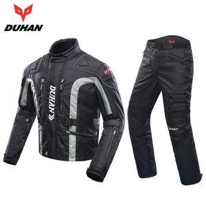 BLOUSON - VESTE DUHAN Hommes Moto Veste + Protecteur Moto Pantalon