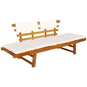 Salon de jardin bois avec banc - Achat / Vente pas cher