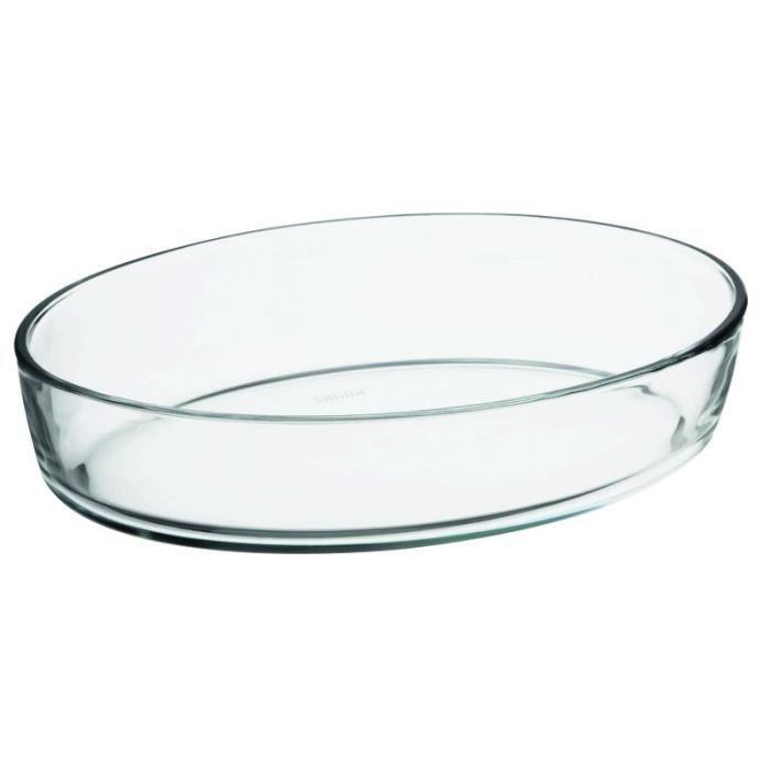 FINLANDEK Plat ovale en verre - 28x19 cm