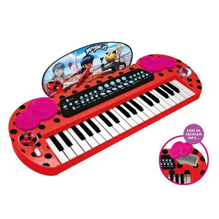MIRACULOUS/LADYBAG Piano électronique - 8 rythmes - 8 instruments - à piles