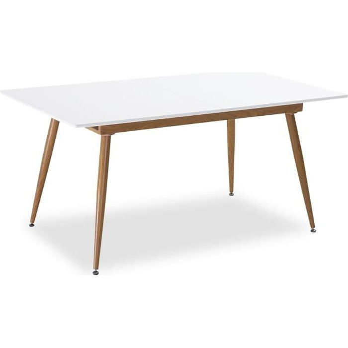 Table Style Scandinave Extensible Betty Blanc 6 A 8 Personnes