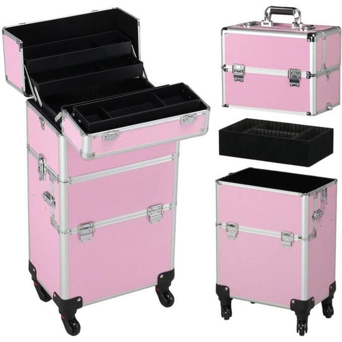 yaheetech mallette maquillage valise cosmetique coiffure. Black Bedroom Furniture Sets. Home Design Ideas