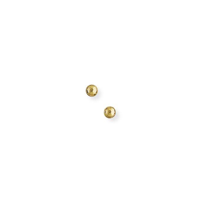 Jewelco London Dames Or Jaune 9k ballon des boucles doreilles